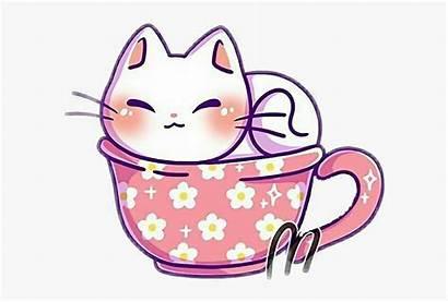 Kawaii Cat Kitten Teacup Kitty Cartoon Whitecat