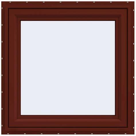 jeld wen        series left hand casement vinyl window red thdjw