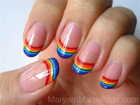 cool rainbow nail designs hative