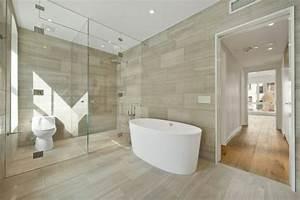 Carrelage Imitation Bois Salle De Bain : carrelage de salle de bains original 90 photos inspirantes ~ Melissatoandfro.com Idées de Décoration
