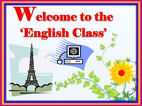 PPT - W elcome to the 'English Class' PowerPoint ...