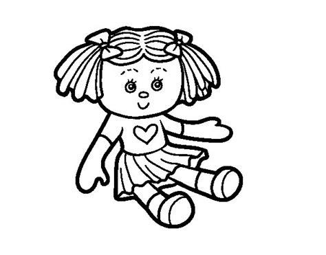 Fichas para el desarrollo del trabajo en equipo en el aula Dibujo de Muñeca de juguete para Colorear - Dibujos.net