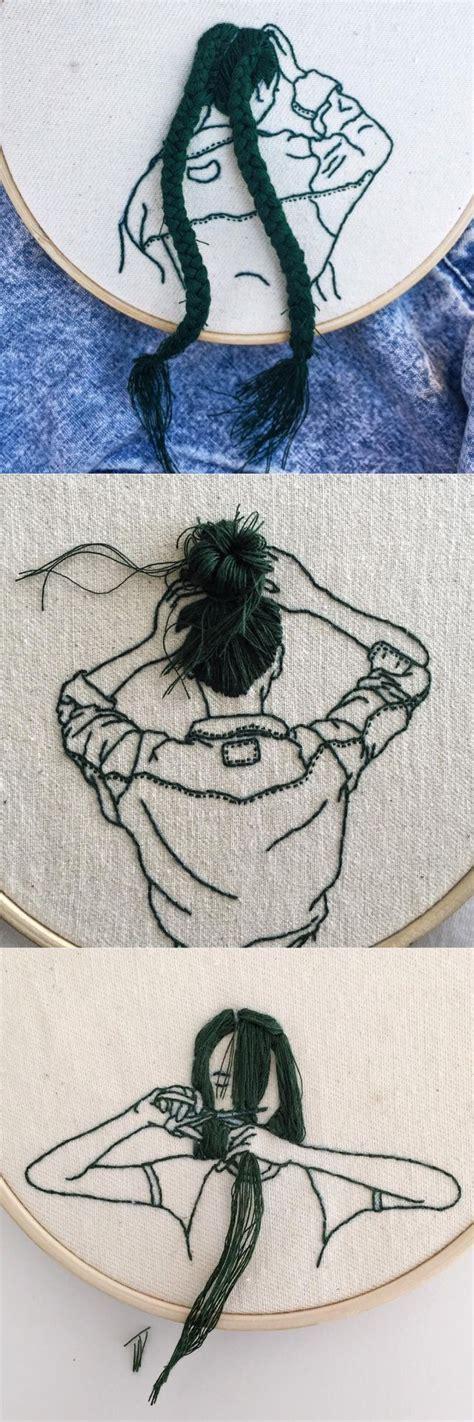 Interessante Ideenfeder Idee by So Eine Interessante Idee Zum Sticken Embroidery