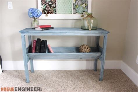 book rack console table  diy plans rogue engineer