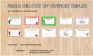 Chili Cook Off Certificate Template Chili Cook Off Certificate Template Free 10 Best Ideas