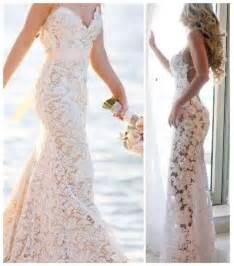 lace beach wedding dress beach attire pinterest