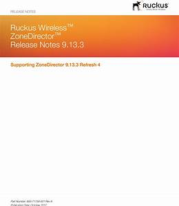 Ruckus Wireless U2122 Zonedirector U2122 Release Notes 9 13 3 Zone