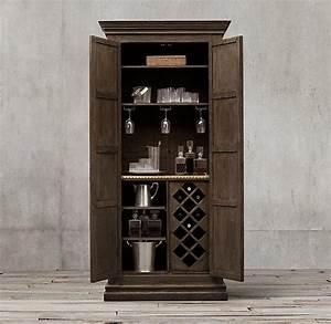 Baron Brown Deco Bar Cabinet