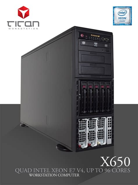 workstation xeon quad intel e7 titan x650 cores cpus v4 computers server hpc super computer hardware comsol series pc render