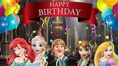 Birthday Happy Elsa Rapunzel Ariel Princesses Anna