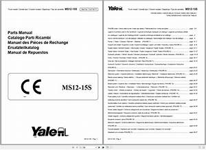 Yale Forklift Pdf 14 4gb Service  U0026 Parts Manuals Full