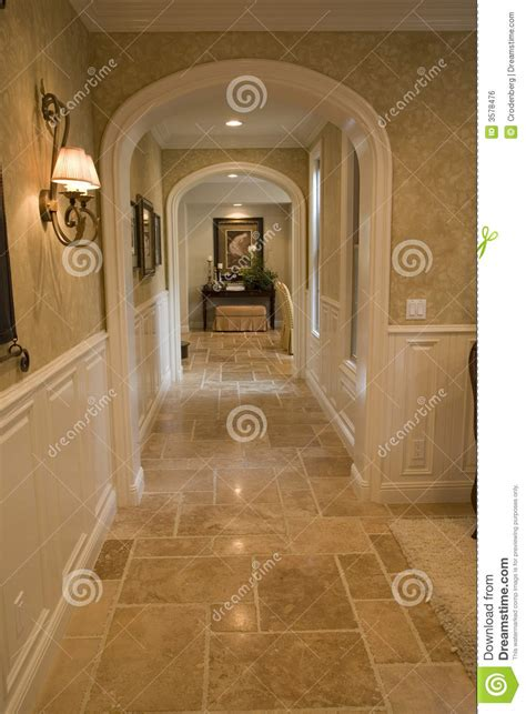 luxury home hallway stock photo image  real estate