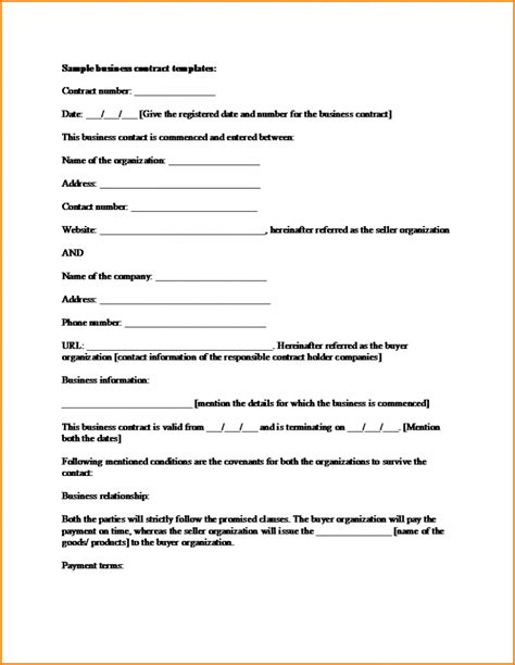 Contract Template by Business Sale Contract Template Mughals