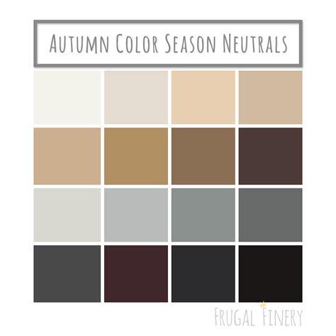 neutral color palette neutral colors for the autumn color season wardrobe