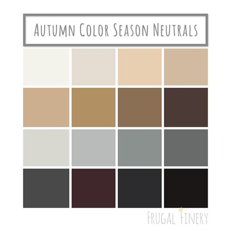 Neutral Colors For The Autumn Color Season Wardrobe