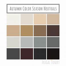 Neutral Colors For The Autumn Color Season Wardrobe