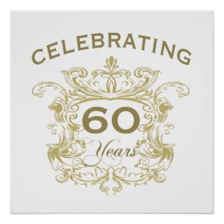 60 wedding anniversary 60th wedding anniversary posters zazzle