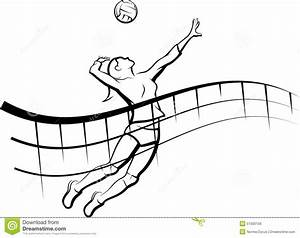 Volleyball Spike With Flowing Net Stock Illustration ...