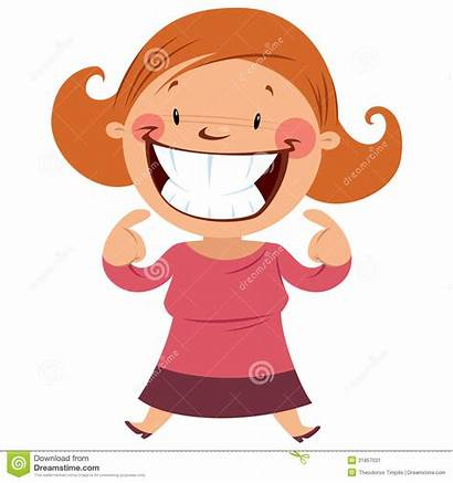 Teeth Smile Clipart Smiling Happy Showing Woman