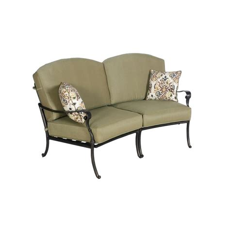 Curved Loveseat by Hton Bay Edington Curved Patio Loveseat Sectional With