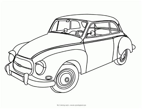Printable Coloring Pages Old School Cars Coloring Home