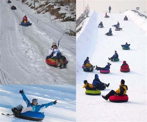Inflatable Sled & Snow Tubes Skiing Thickened Circle Snow