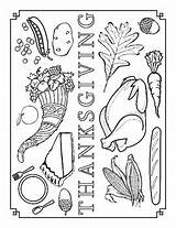 Feast Coloring Thanksgiving Sheet sketch template