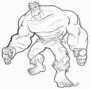 Red Hulk Coloring Pages - AZ Coloring Pages