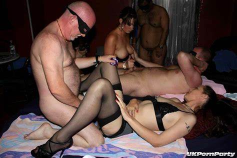 Painful Swingers Party With British Kitty