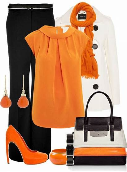 Orange Shoes Polyvore Outfits Sets Casual Outfit