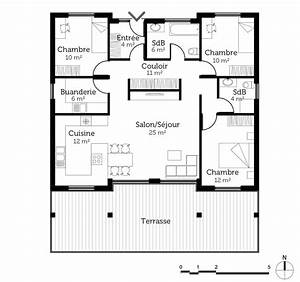 plan maison creole ooreka With superb voir sa maison en 3d 2 plan maison en bois de plain pied ooreka