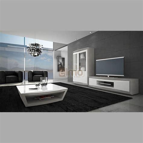 ensemble salon meuble t 233 l 233 vision vitrine table basse bois