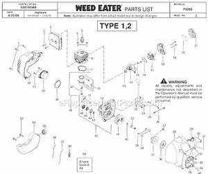 Weed Eater Fx26s Parts List And Diagram