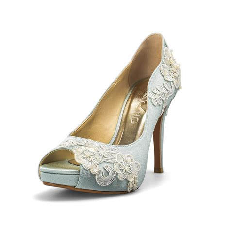 Wedding Shoes by Something Blue Wedding Shoes With Lace Powder Blue Bridal