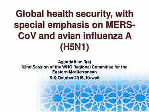 Global health security, with special emphasis on MERS-CoV ...