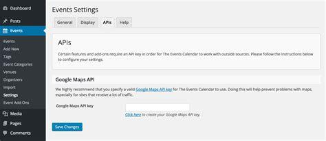 Setting Up Your Google Maps Api Key  The Events Calendar