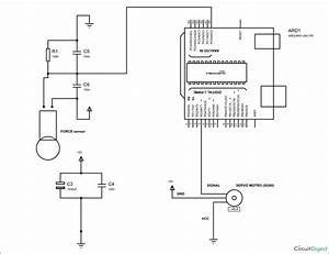 Servo Motor Position Control By Force Sensor Using Arduino Uno