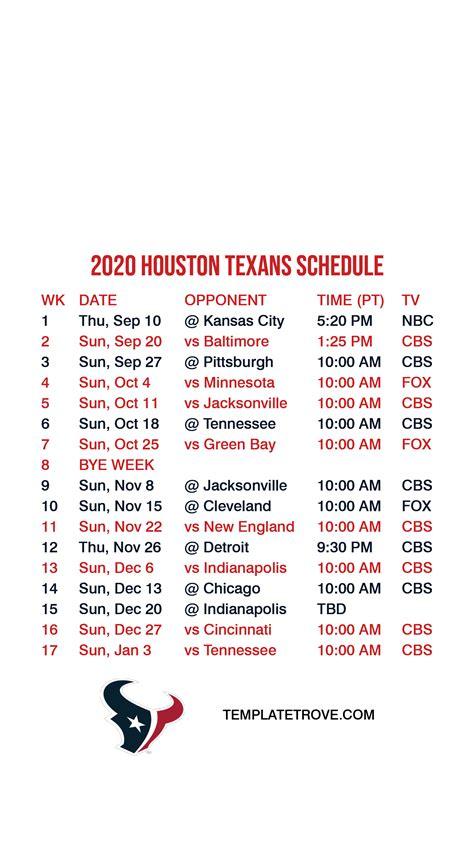 houston texans lock screen schedule  iphone