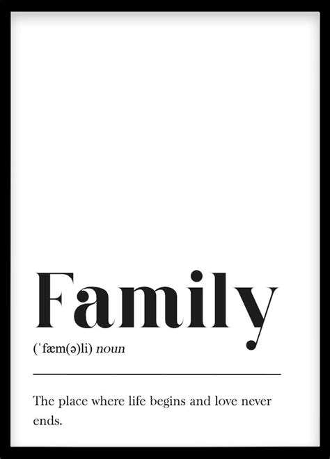 familie definition plakat fuer bilderwand poster
