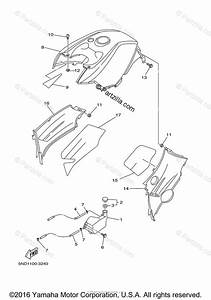 Yamaha Atv 2005 Oem Parts Diagram For Side Cover