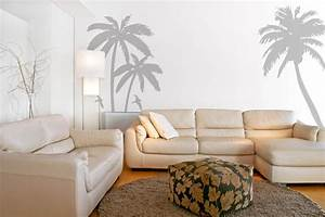 Palm trees wall decals stickers sea birds beach scenery wall for Beach wall decals