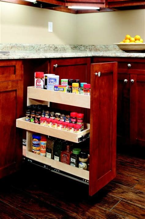 Roll Out Spice Racks For Kitchen Cabinets by Roll Out Spice Rack Other Metro By Shelfgenie Of West