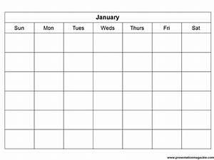 Printable Blank Monthly Calendar Monthly Calendar Template Sunday Start
