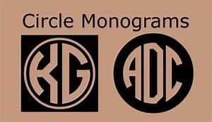 5 best images of printable monogram circle free With free monogram maker