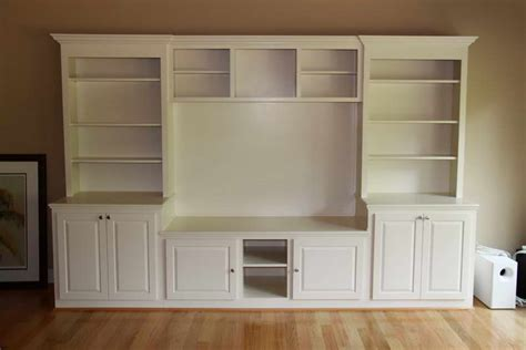 using kitchen cabinets for entertainment center bloombety built in entertainment center with white color 9575