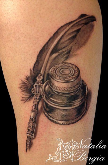 quill  ink tattoo  nataliaborgiadeviantartcom