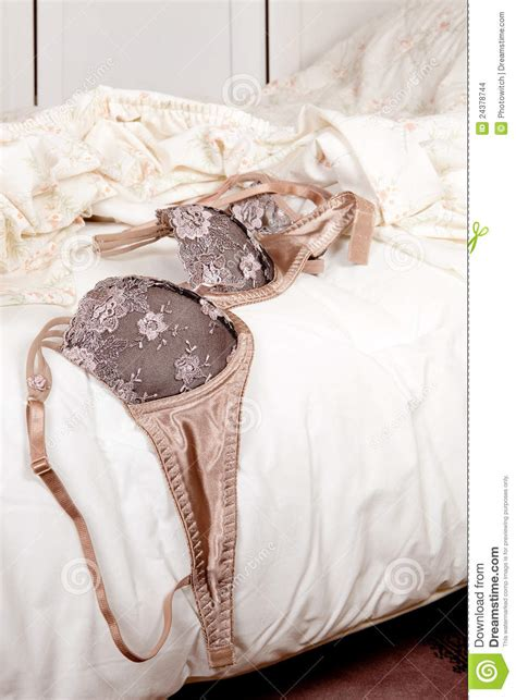 luxury bra  bed stock images image