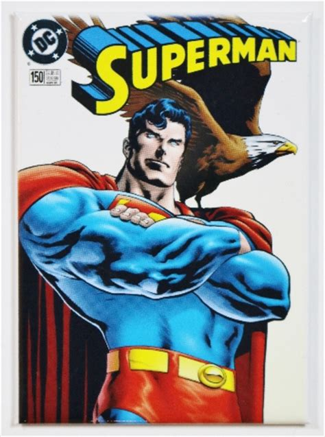superman dc comics issue  fridge magnet justice league