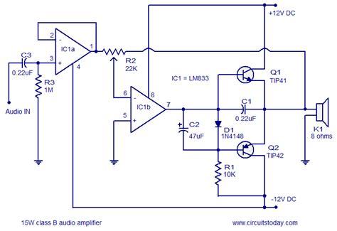 Audio Power Amplifier Circuit Diagram