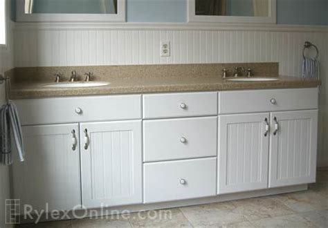 Wainscot Double Bathroom Vanity   Orange County, NY   Rylex